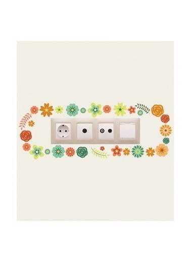 Disney Çiçekler-1 Priz Sticker Renkli